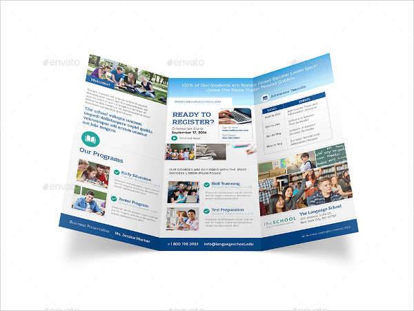 Language School Trifold Brochure