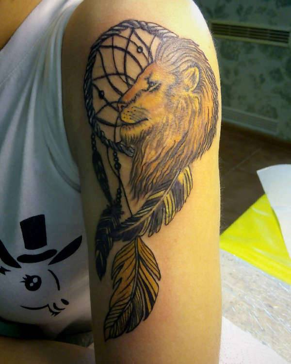 leo sleeve tattoo design