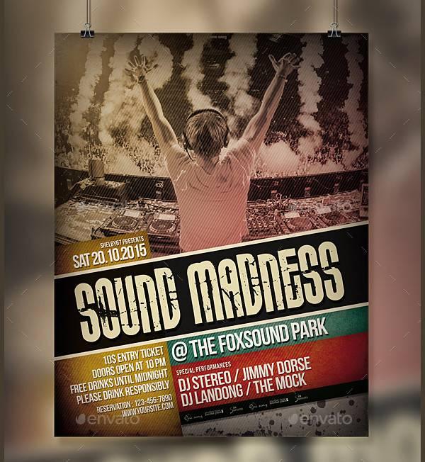 live dj event poster