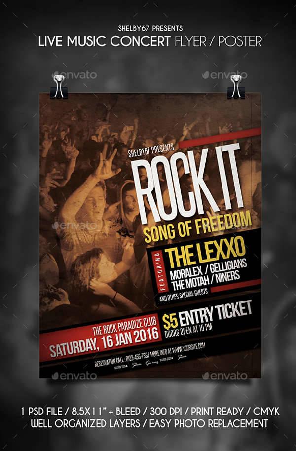 Live Music Concert Flyer