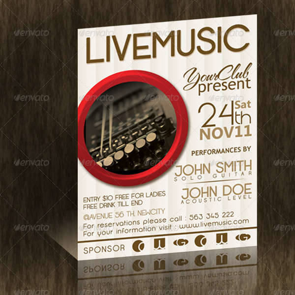 Live Music Flyer Template