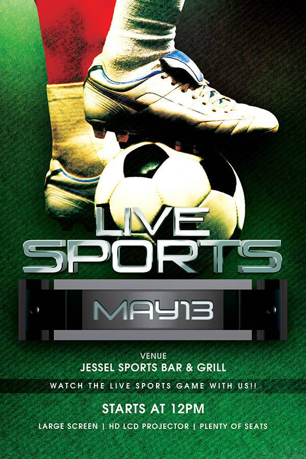 Live Sports Event Flyer