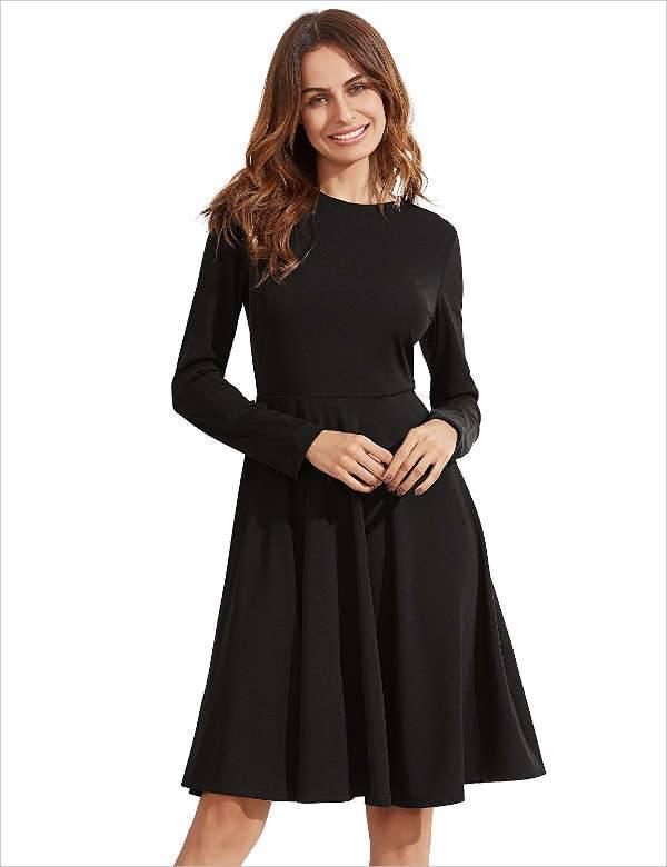 long sleeve skater dress1