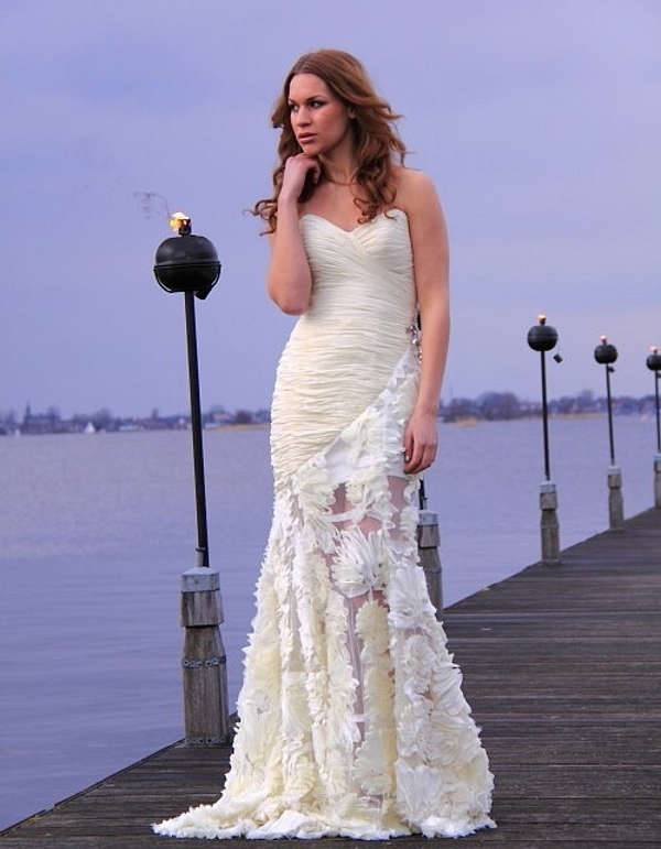 long white lace dress