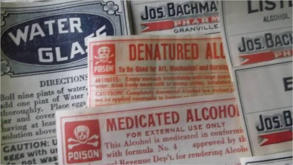 medicine bottle label design