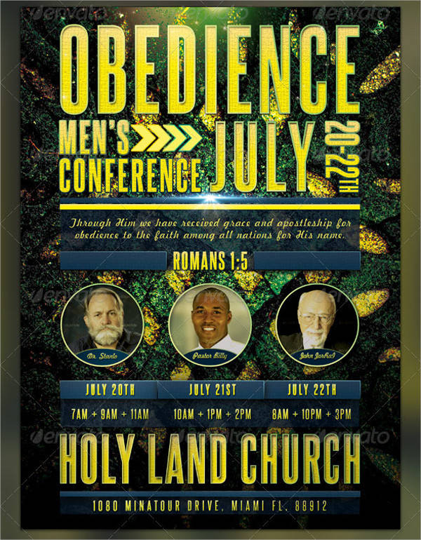 Men Church Conference Flyer