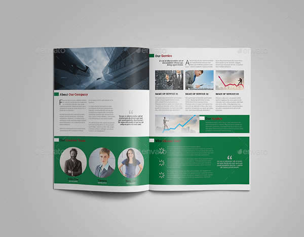 Minimal Corporate Bifold Brochure