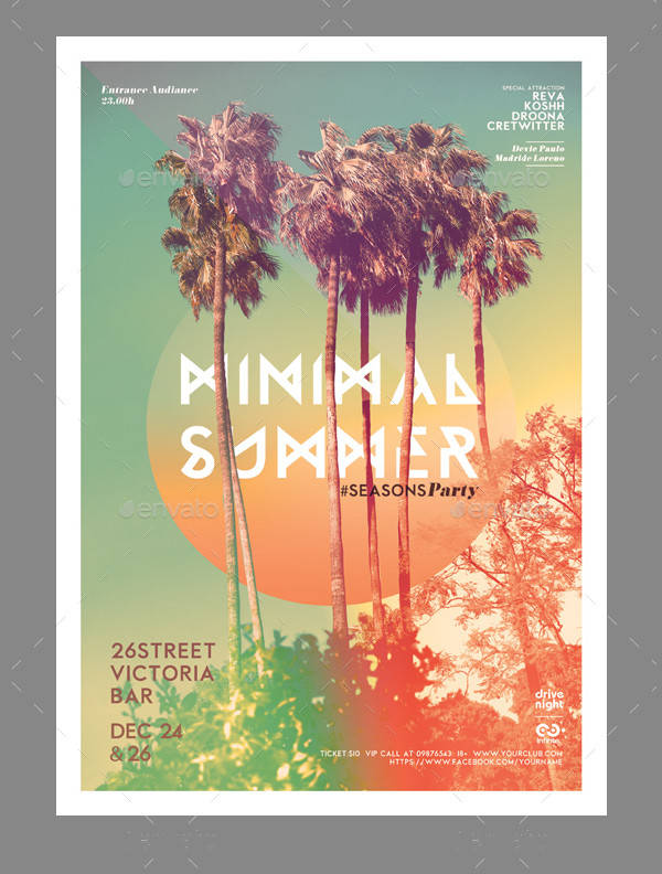 minimal summer event poster