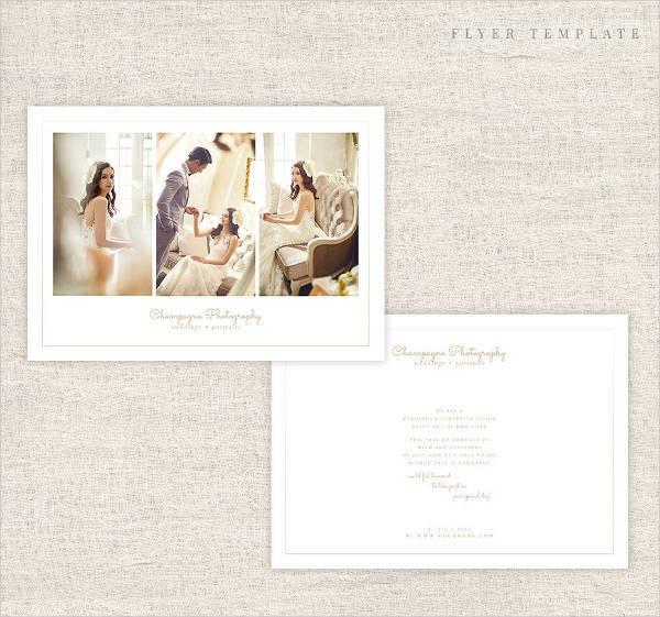 Minimal Wedding Photography Flyer