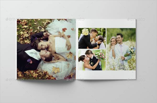 minimalist square wedding photo album