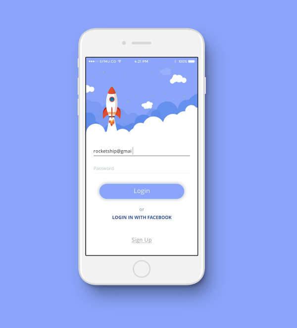 mobile login ui design