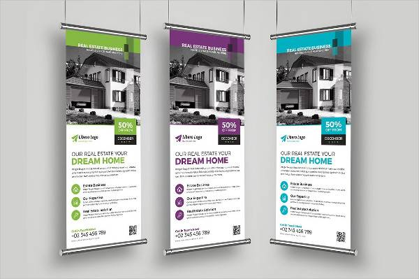 Modern Real Estate Roll Up Banner