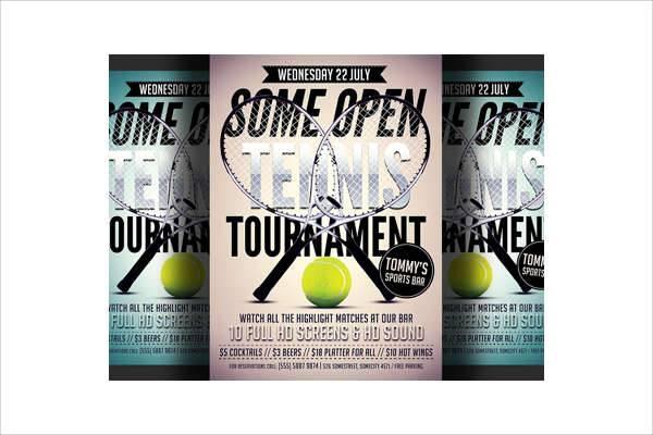 modern tennis flyer