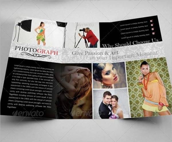 Modern Tri-Fold Photography Studio Brochure