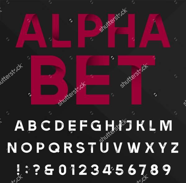 Modern Typography Alphabet Font