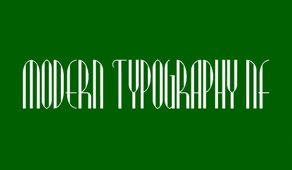 Modern Typography Regular Font