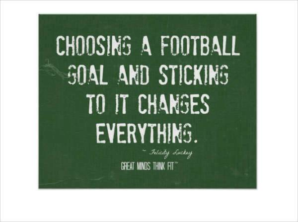 motivational football goal poster