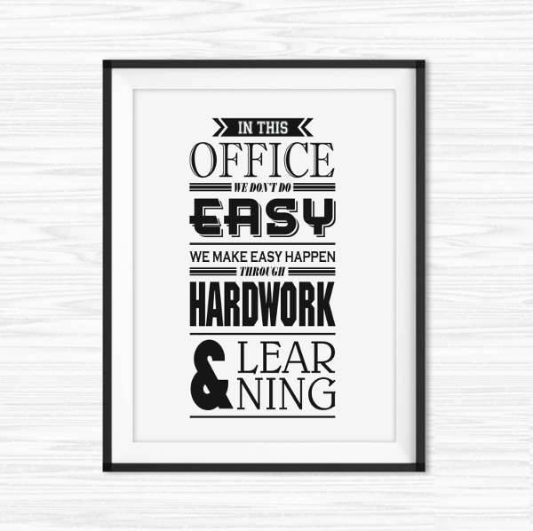 motivational wall office poster