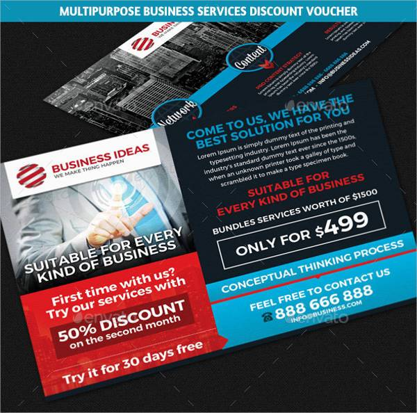 Multipurpose Business Discount Voucher