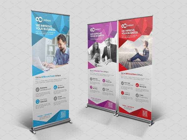 Multipurpose Corporate Roll Up Banner
