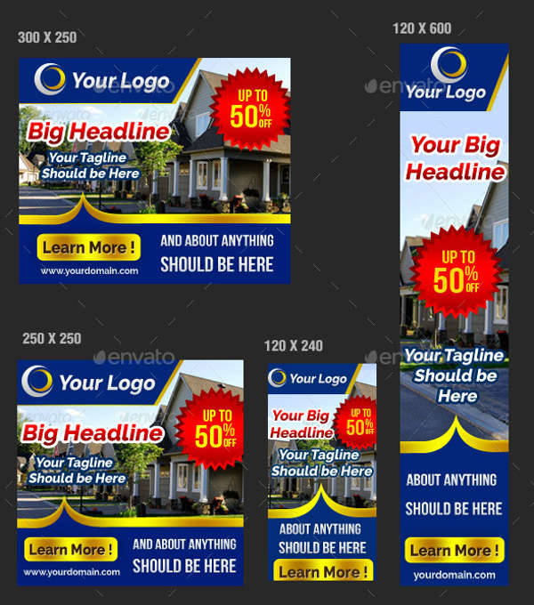 multipurpose real estate marketing ads banner