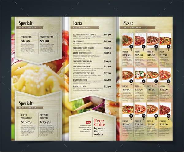 Multipurpose Restaurant Tri-Fold Brochure