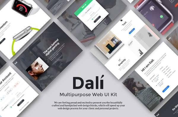 multipurpose web ui design kit