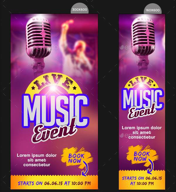Music Event Banner