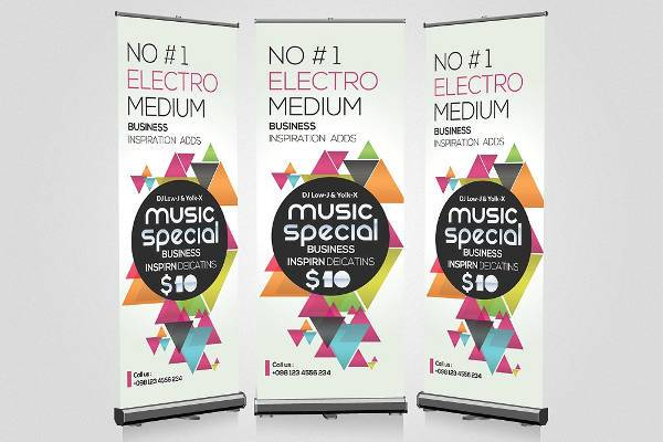 Music Party Roll Up Banner