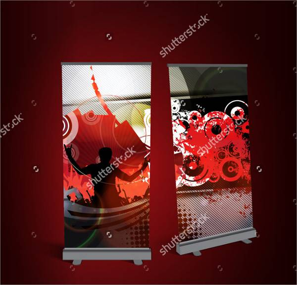 Music Party Rollup Banner