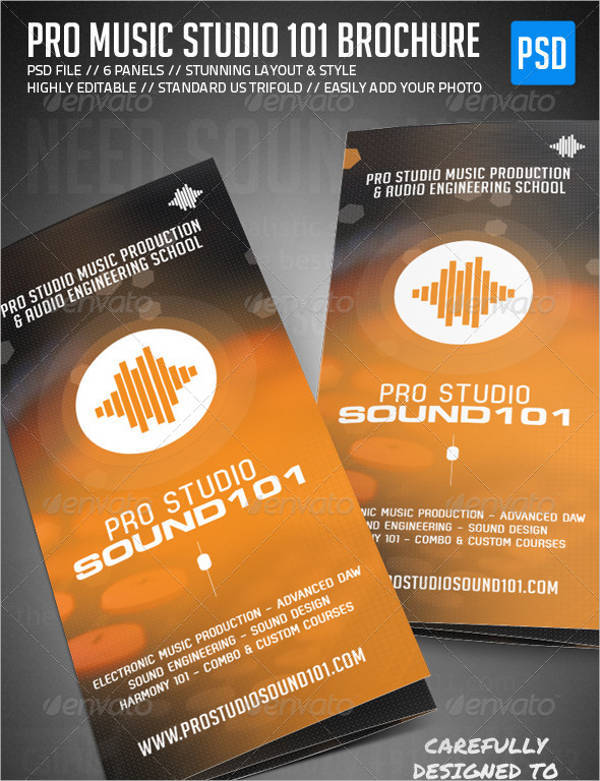 Music Studio Trifold Brochure