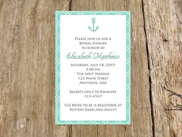 Nautical Wedding Shower Invitation