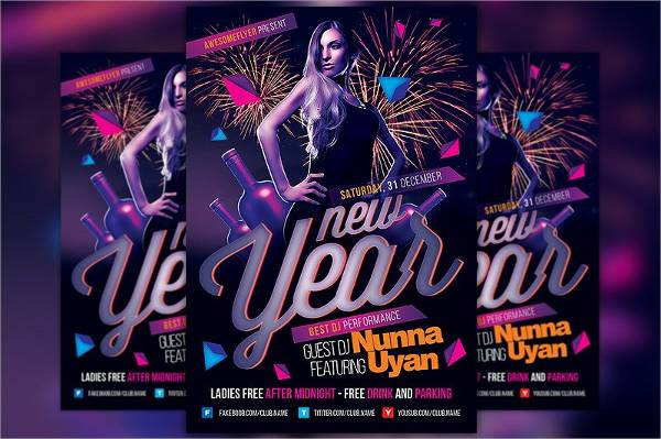 New Year Party Event Flyer