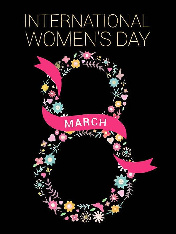 numeric international womens day greeting card