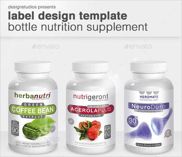 nutrition supplement bottle label design