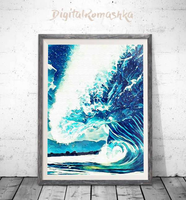 Ocean Watercolour Artwork