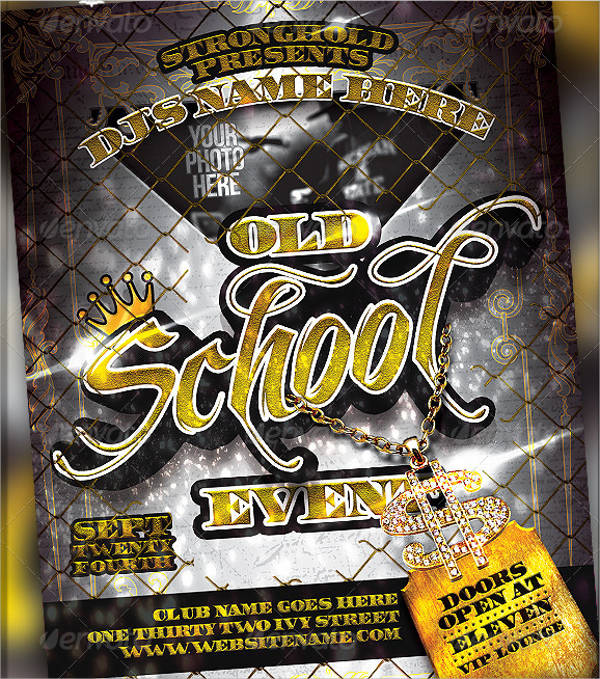 Old School Gold Event Flyer