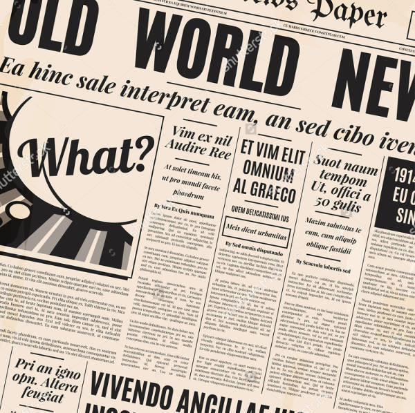 Old Style Newspaper Front Page Template