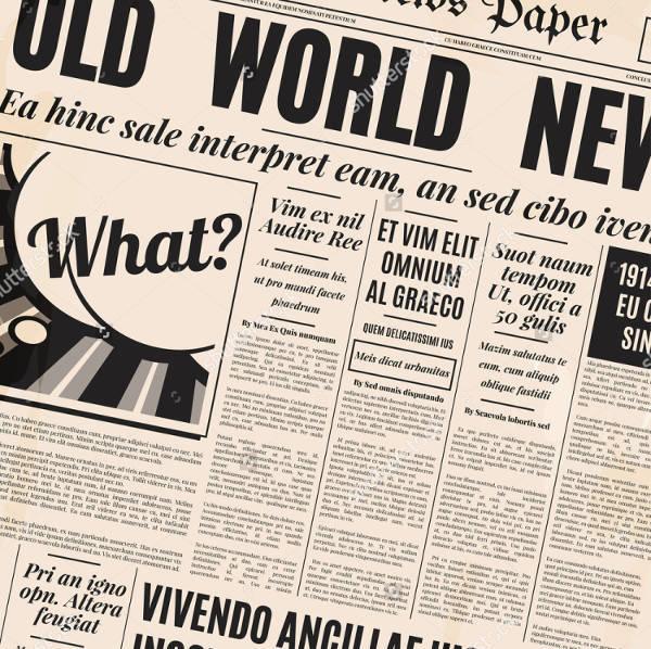 Newspaper Style Template Militaryalicious