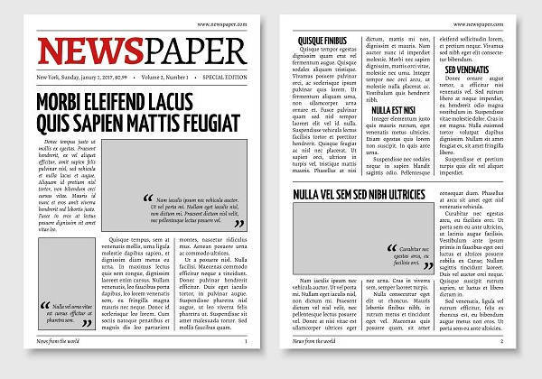 newspaper design templates design trends premium psd vector downloads. Black Bedroom Furniture Sets. Home Design Ideas