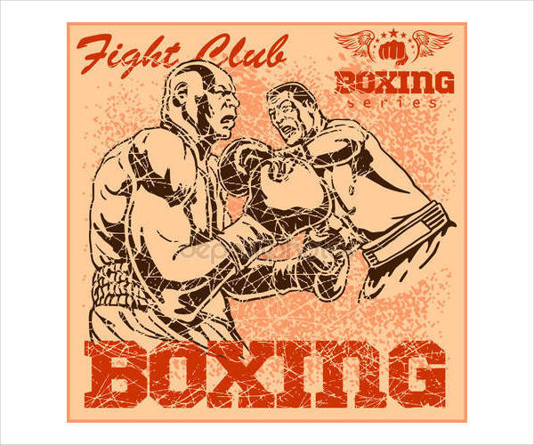 Old Vintage Boxing Poster