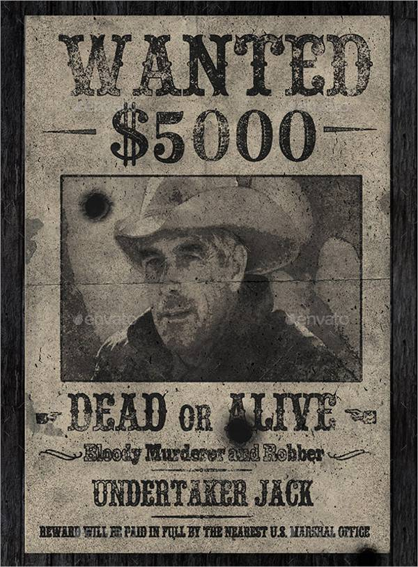 old wanted western poster
