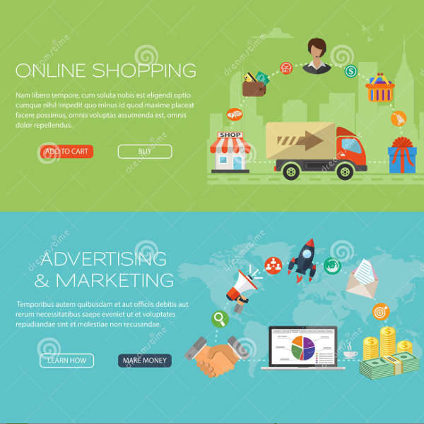 online shopping marketing banner