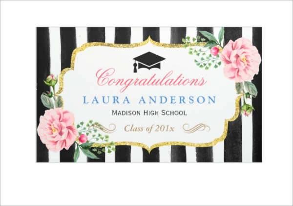 Outdoor Graduation Party Banner