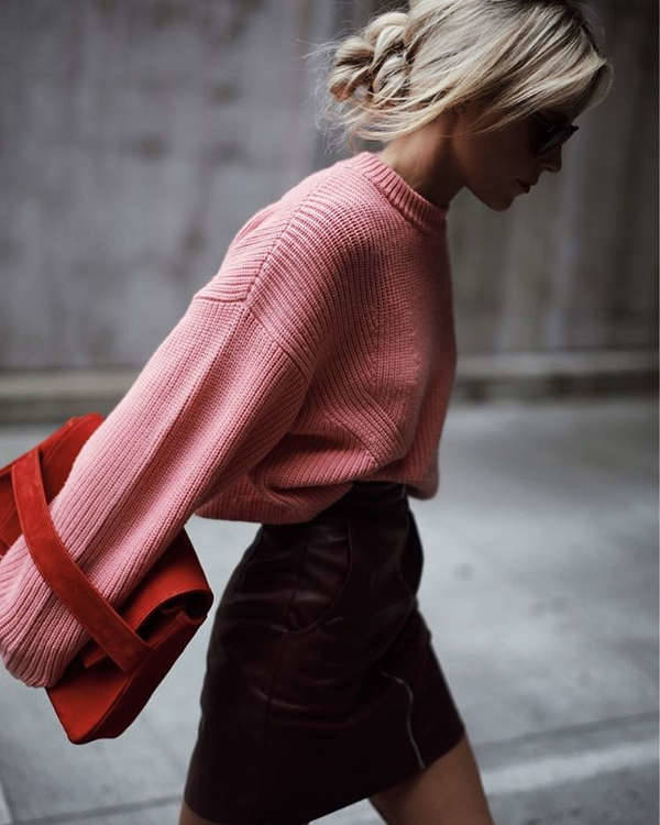 Oversized Pink Sweater