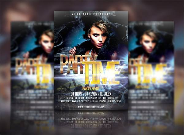 Party Time Event Flyer