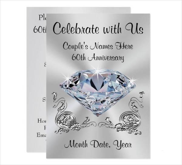 Personalized Anniversary Invitation Card