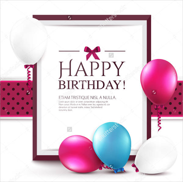 personalized birthday message card
