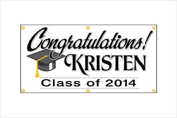 Personalized Graduation Banner Sign