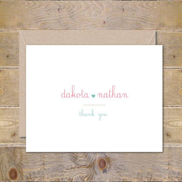 Personalized Thank You Invitation Card